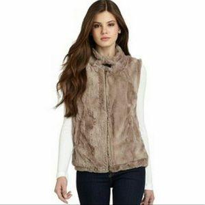 Sanctuary Surplus Teddy Bear Tan Faux Fur Vest L